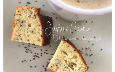 Gâteau citron/graines de chia