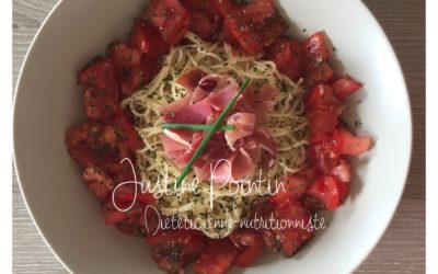 Spaghettis aux tomates fraîches