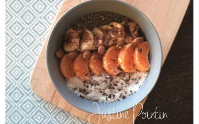 Porridge aux fruits frais et coco