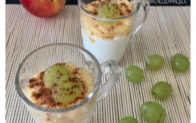 Mousse de fromage blanc pomme et raisin