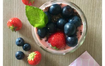 Smoothie fraise banane et graines de chia