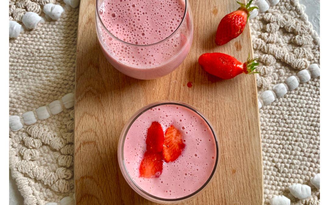 Milk shake fraise banane