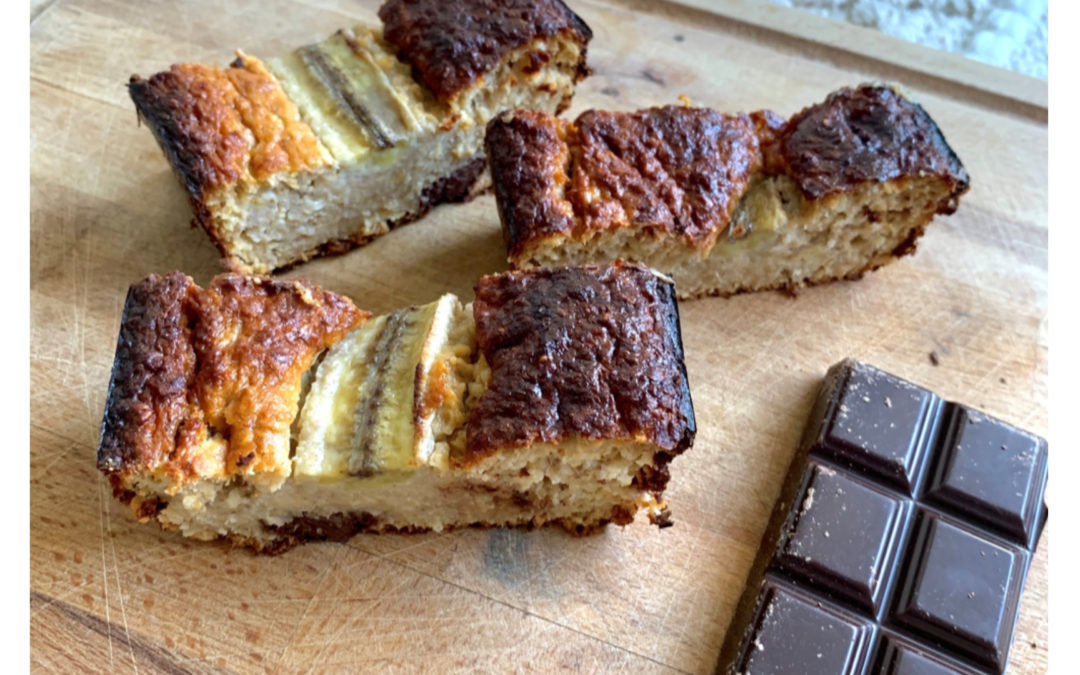 Banana bread aux flocons d'avoine