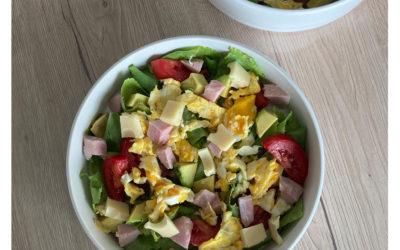 Salade aux oeufs brouillés