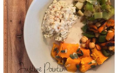 Assiette colorée végétarienne