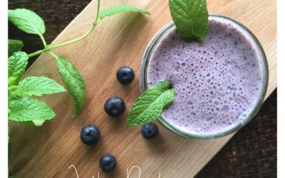 Milk-shake aux myrtilles