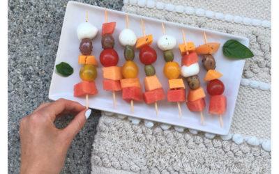 Brochettes apéro diététiques